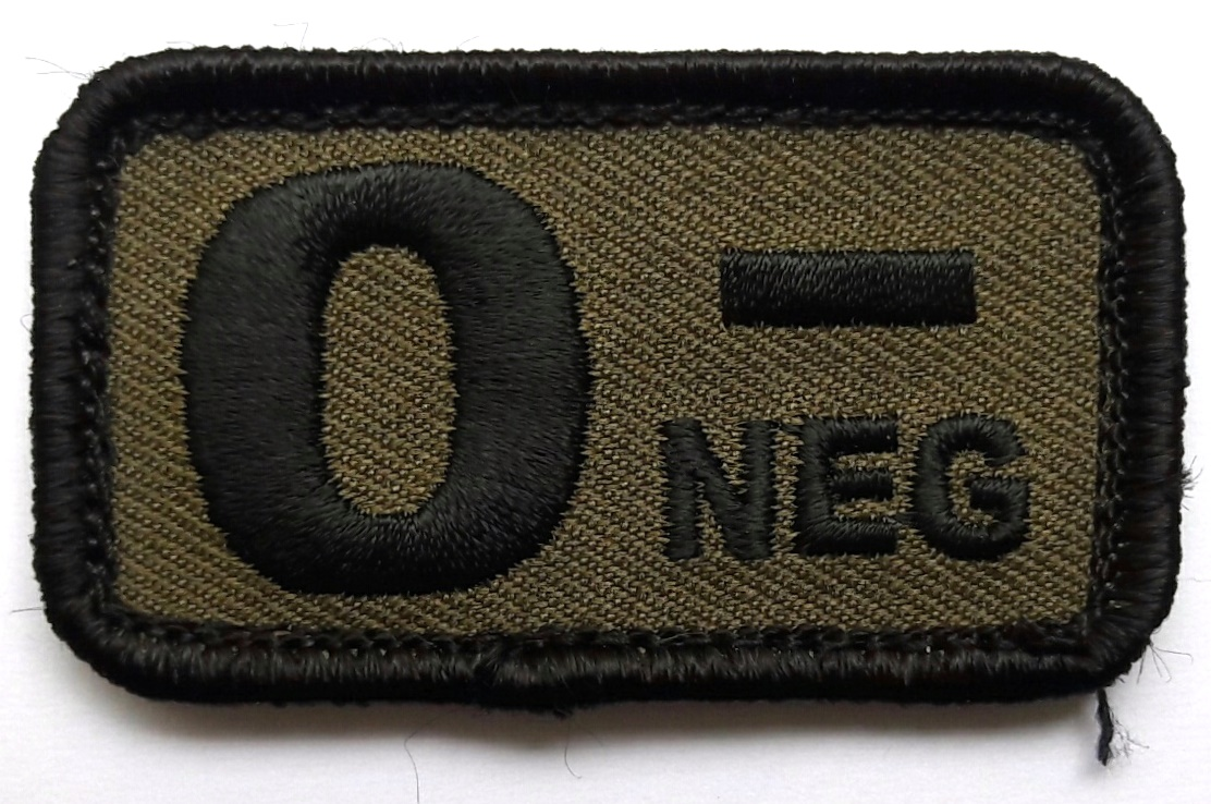 Morale Patch Blutgruppe O-