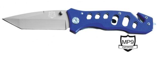 Einhandmesser MP9 Rescue Blue / Rettungsmesser