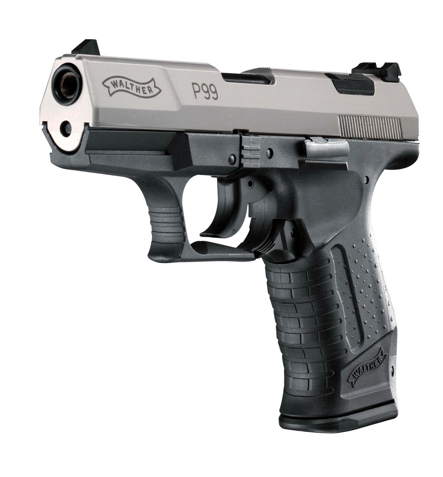 Walther P99 Schreckschuss Pistole 9mm P.A.K. vernickelt