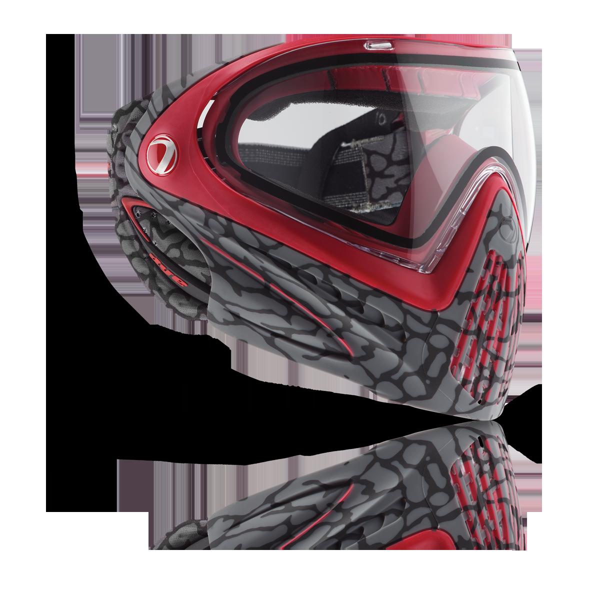 DYE I4 Paintballmaske, skinned red
