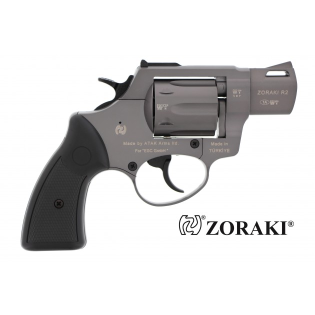 "Zoraki R2 Schreckschussrevolver 2"" titan, cal. 9mm R.K"