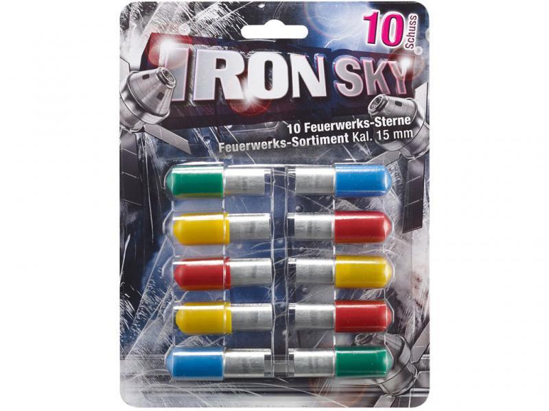 Feuerwerk Umarex Iron Sky, 10teilig cal. 15mm Pyrotechnik, bunte Sterne