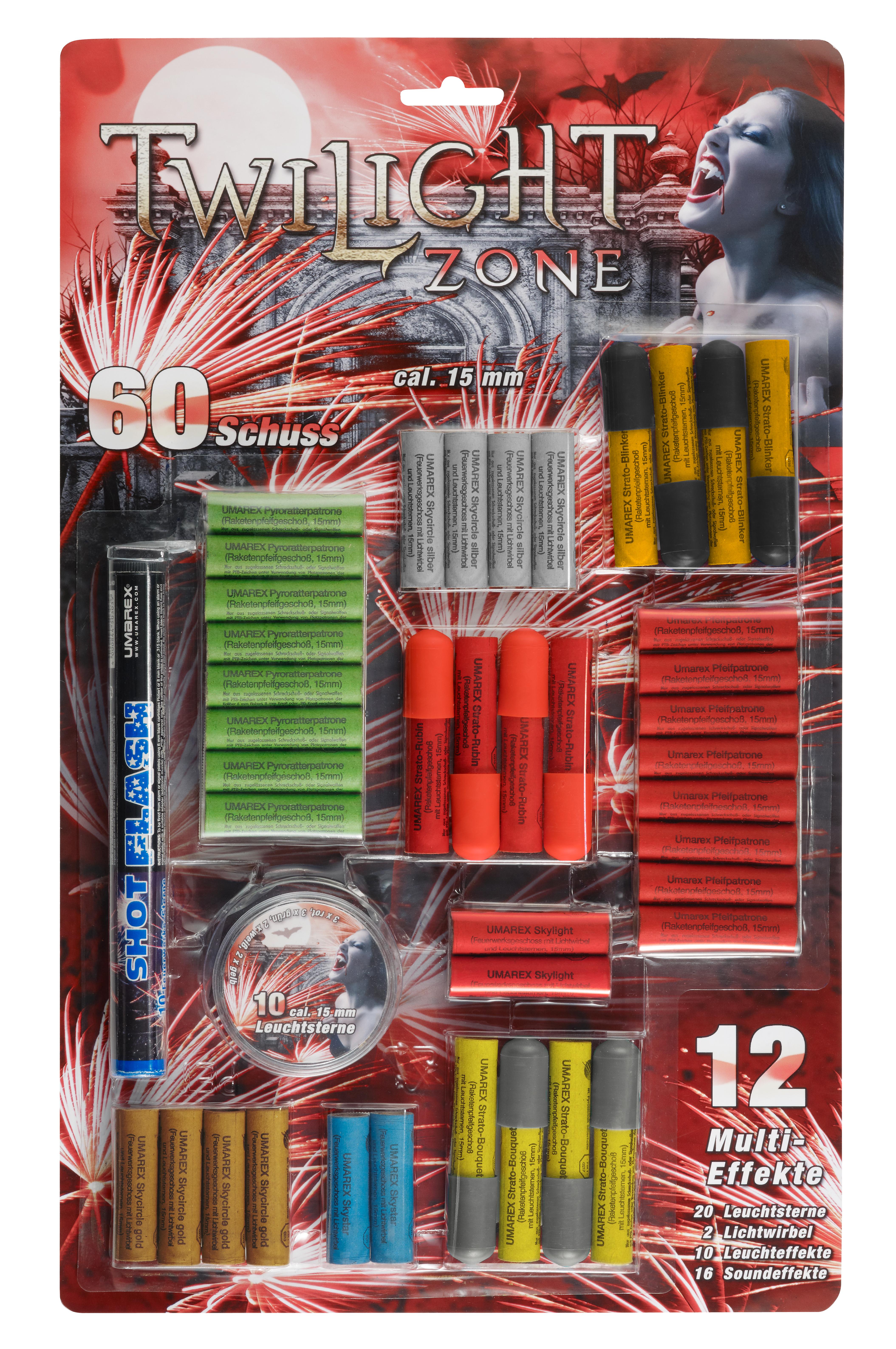 Feuerwerk Umarex Twilight Zone, 60teilig cal. 15mm Pyrotechnik