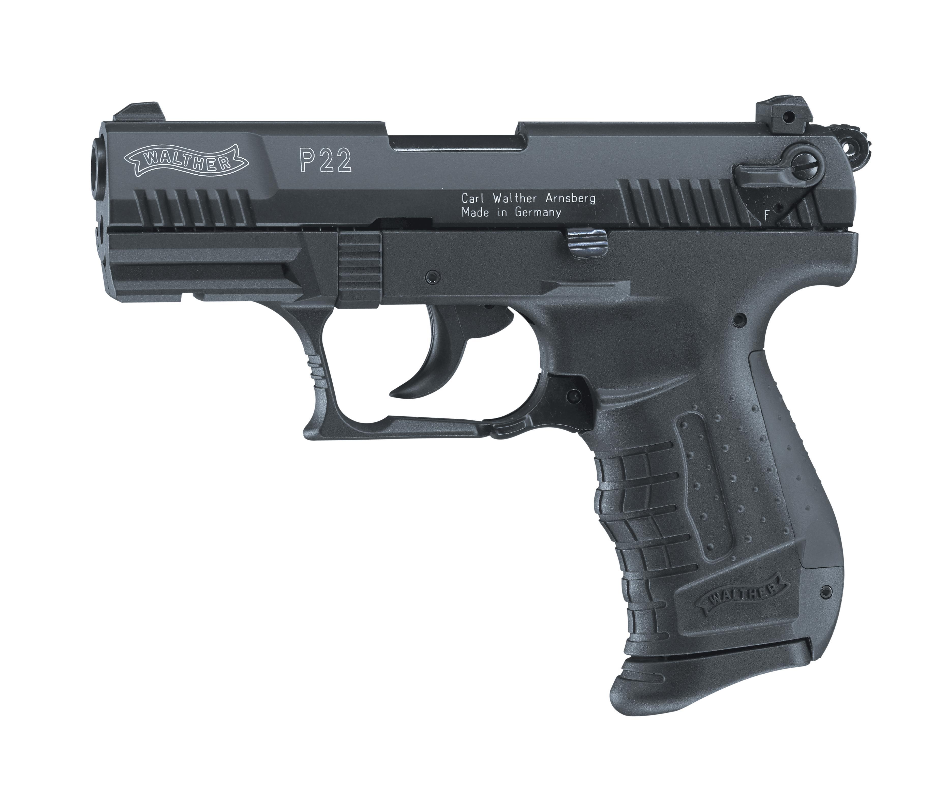 Walther P22 Schreckschuss Pistole 9mm P.A.K. brüniert
