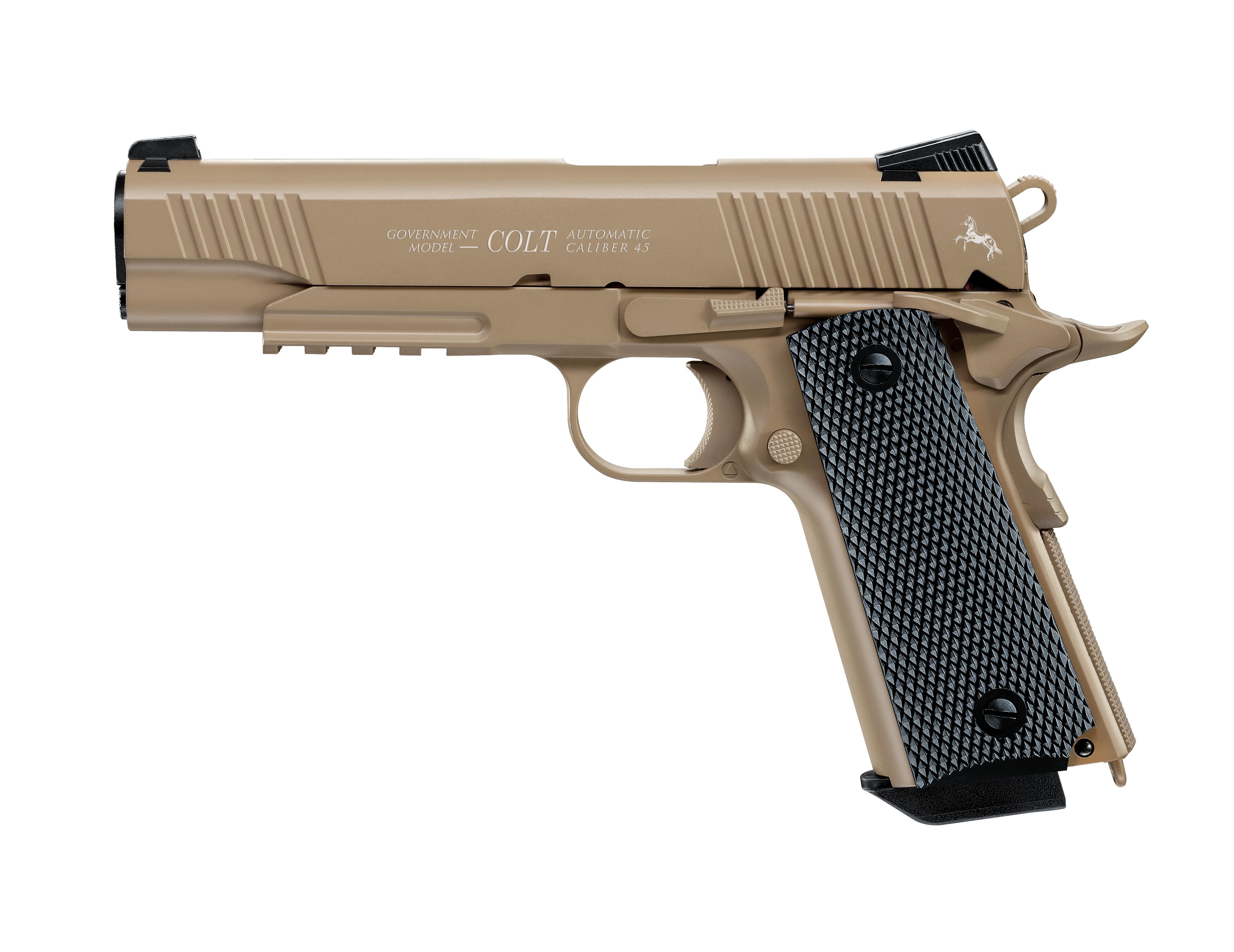 Colt Government M45 CQB tan CO2 Pistole