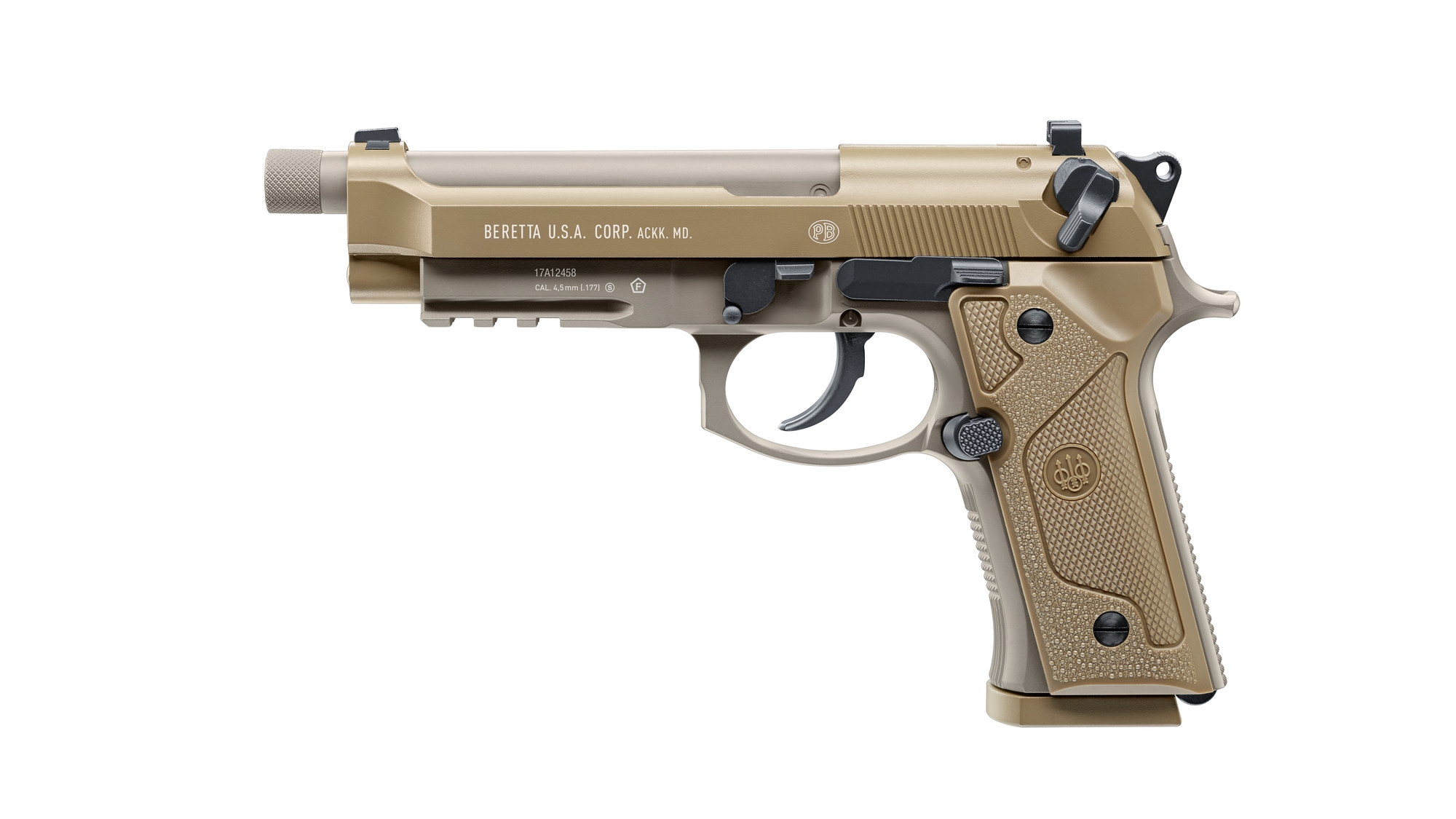 Beretta M9A3 FDE 4,5 mm Stahl BB Co2-Pistole Blow Back