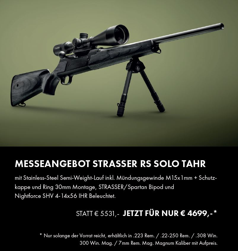 Strasser RS Solo Tahr Komplettpaket Nightforce SHV 4-14x56 IHR