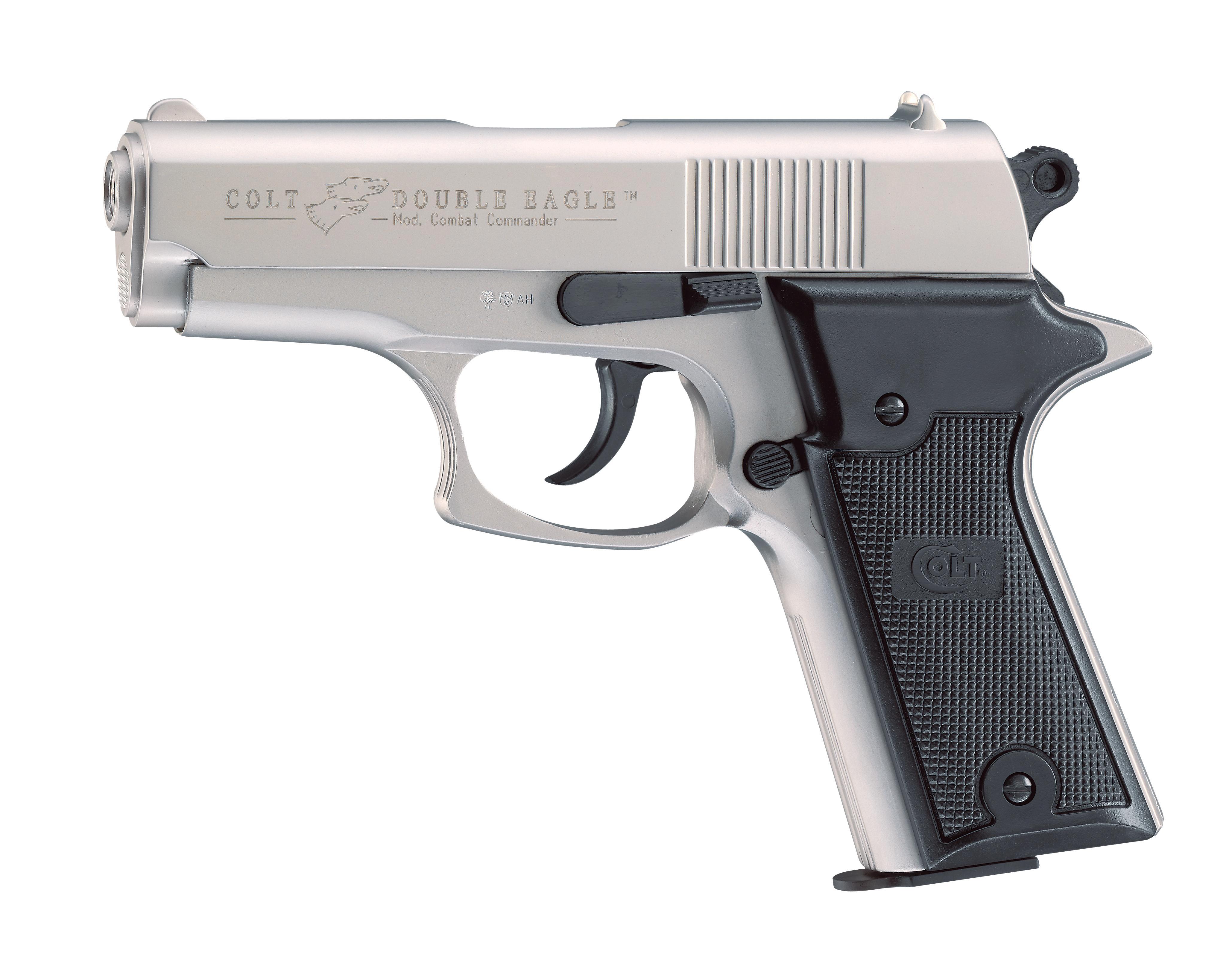 Colt Double Eagle Combat Commander Schreckschuss Pistole 9mm P.A.K., nickel
