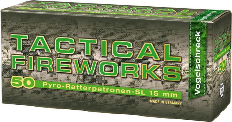 Feuerwerk Umarex Ratterpatronen Tactical Firework, 50teilig cal. 15mm Pyrotechnik Vogelschreck/ Birdbangers / Knatter
