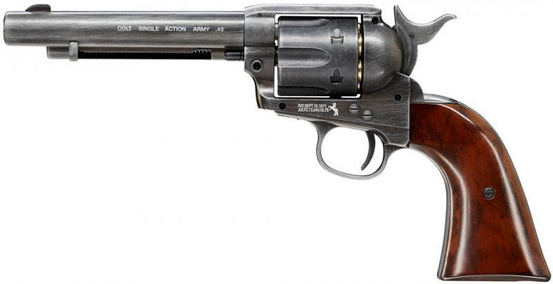 Colt Single Action Army 45 antik CO2 Revolver 4,5mm Diabolo gezogener Lauf (SAA)