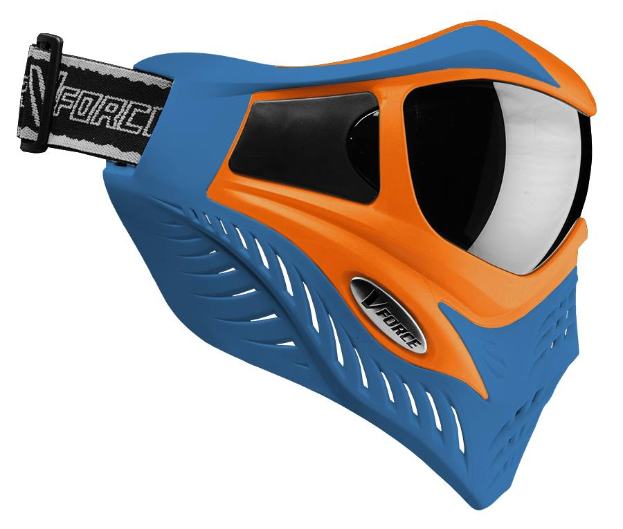 VForce Grill Paintballmaske blau/orange