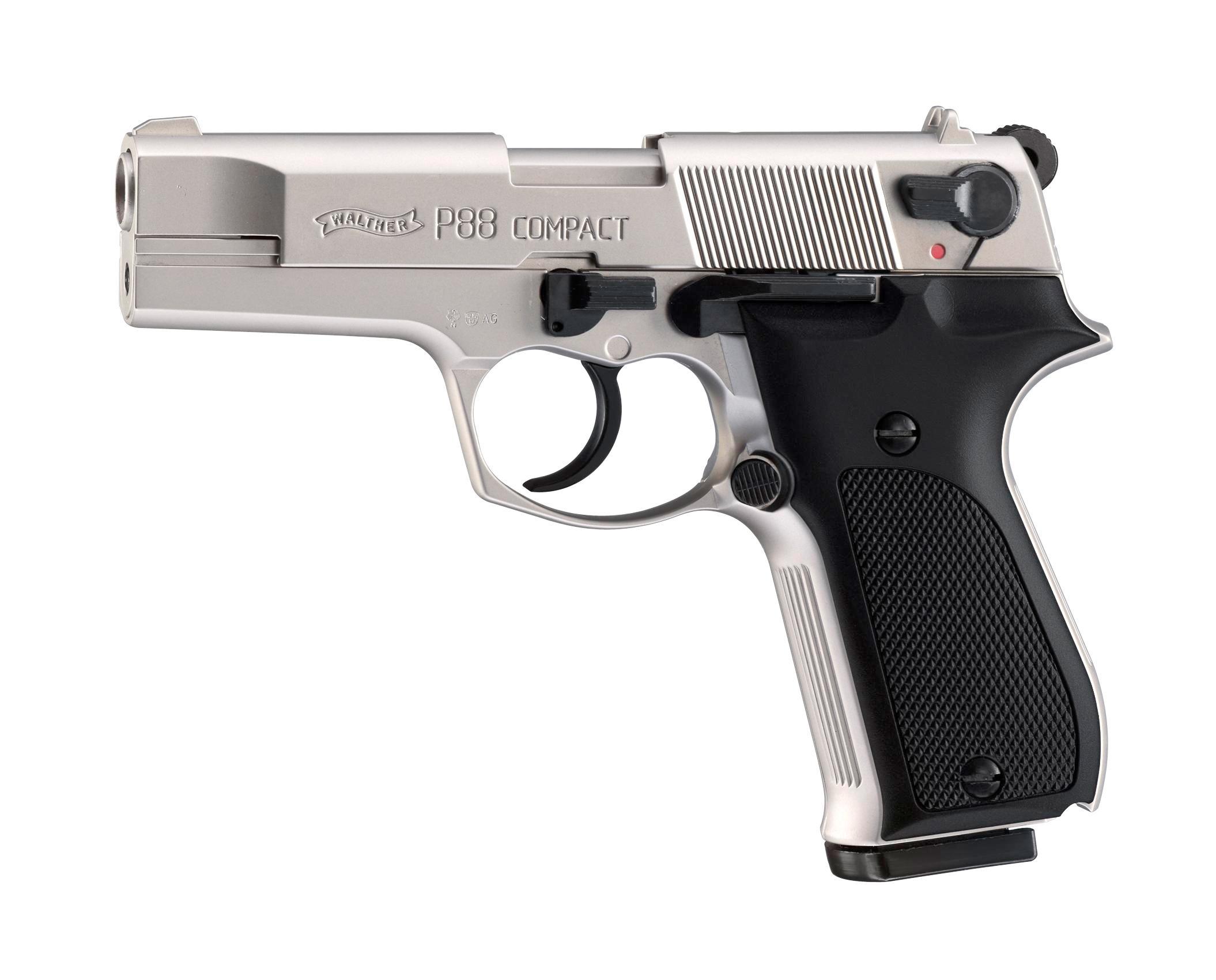 Walther P88 Schreckschuss Pistole 9mm P.A.K., nickel