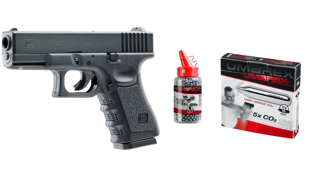Glock 19 CO-2 Pistole Sparset