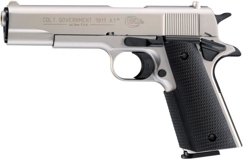 Colt Government 1911 A1 Schreckschuss Pistole 9mm P.A.K. vernickelt