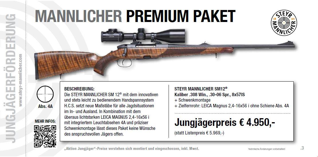 Premiumpaket Jungjägerförderung Steyr Mannlicher