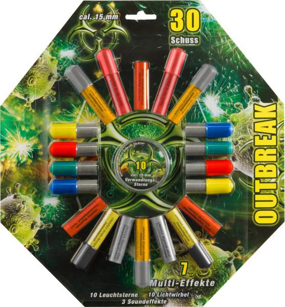 Feuerwerk Umarex Outbreak, 30teilig cal. 15mm Pyrotechnik