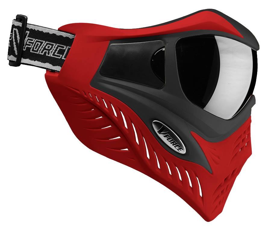 VForce Grill Paintballmaske rot/schwarz