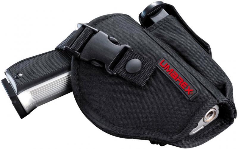 Nylon Holster für mittelgroße Pistolen mit Magazintasche