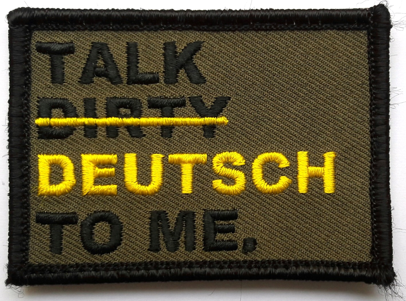 Moral Patch Talk dirty to me 7,0x5,0cm