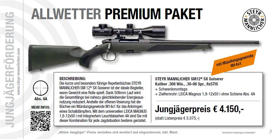 Premiumpaket Allwetter Jungjägerförderung Steyr Mannlicher