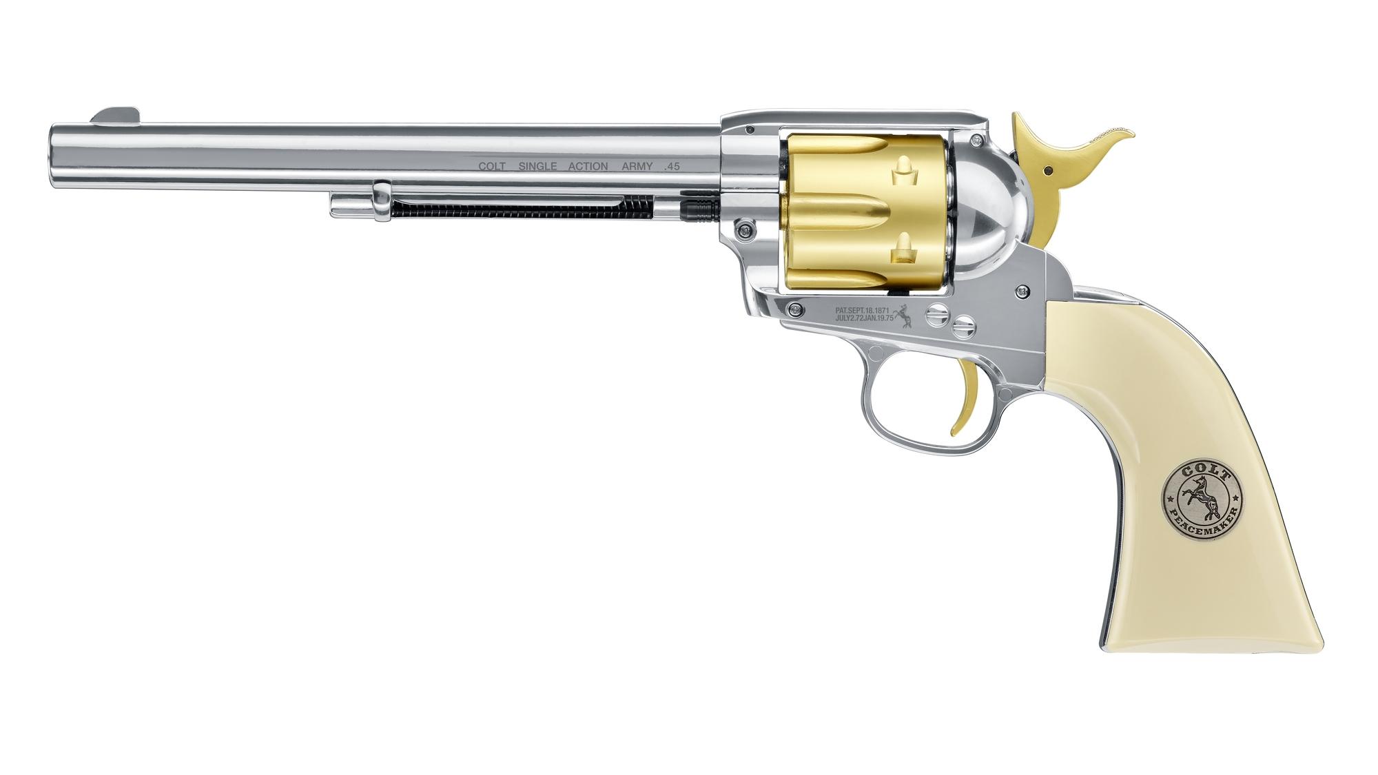 """Colt Single Action Army 45 Gold Editon CO2-Revolver 4,5mm Diabolo (SAA), 7,5"""" Lauf"""