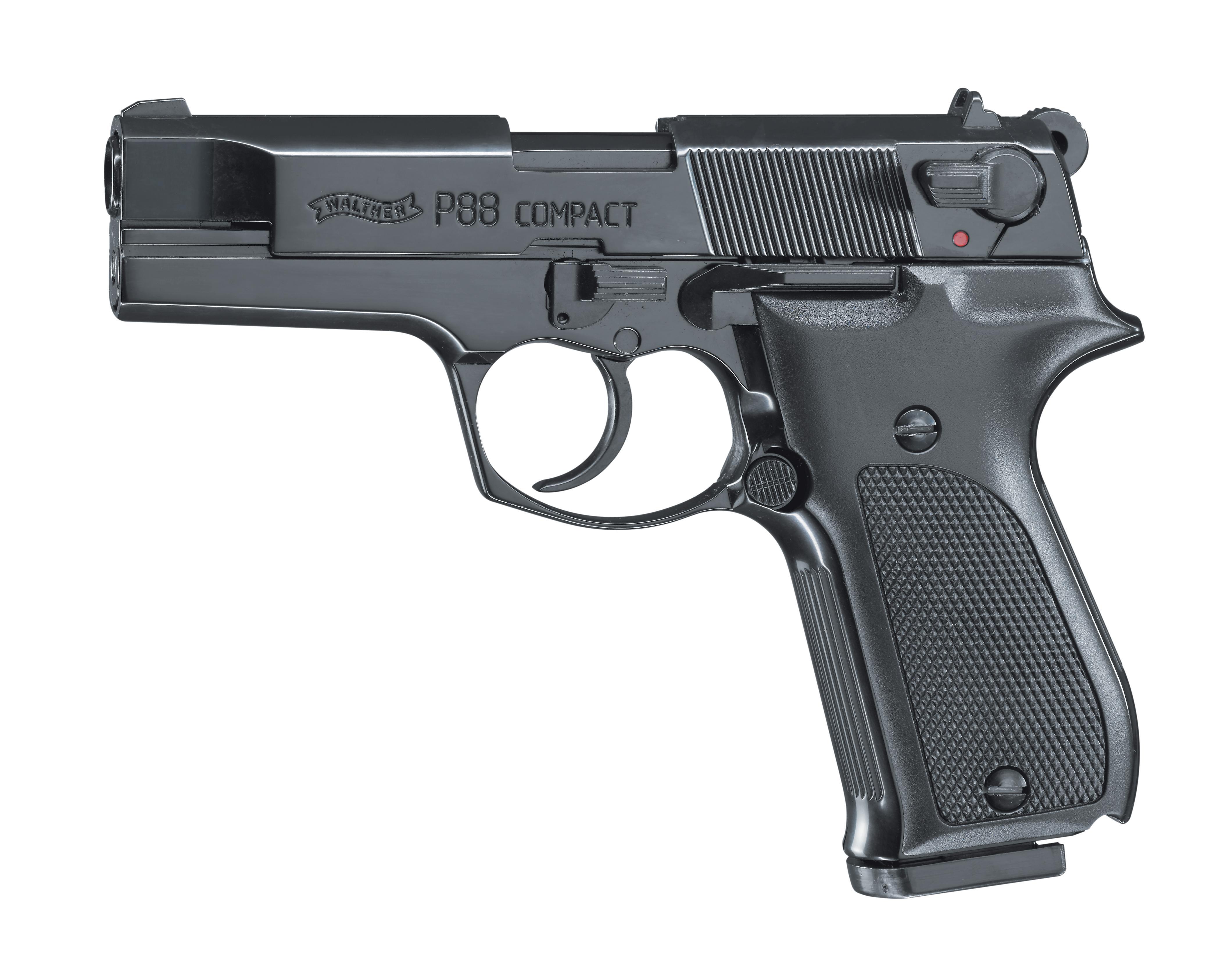 Walther P88 brüniert Schreckschuss Pistole 9mm P.A.K.