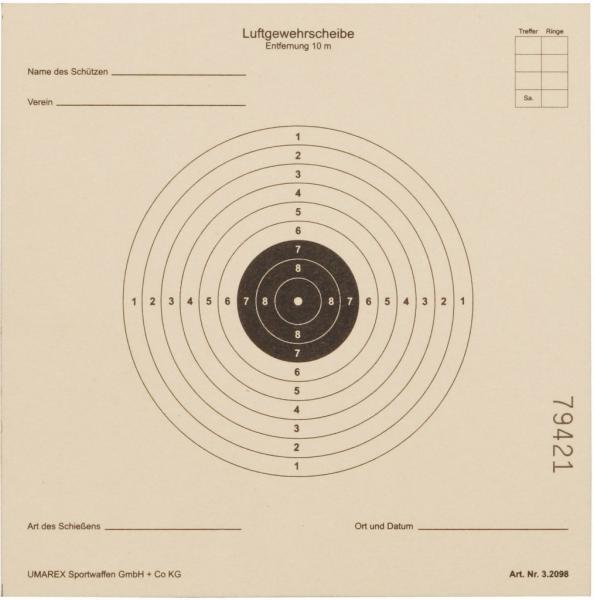 Zielscheibe 14x14cm 1000 Stück