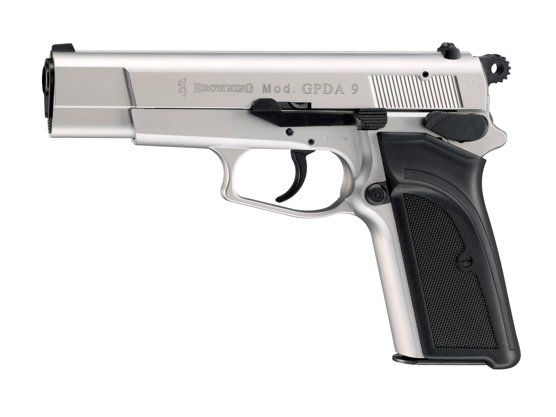 Browning GPDA 9 Nickel Schreckschuss Pistole 9mm P.A.K.