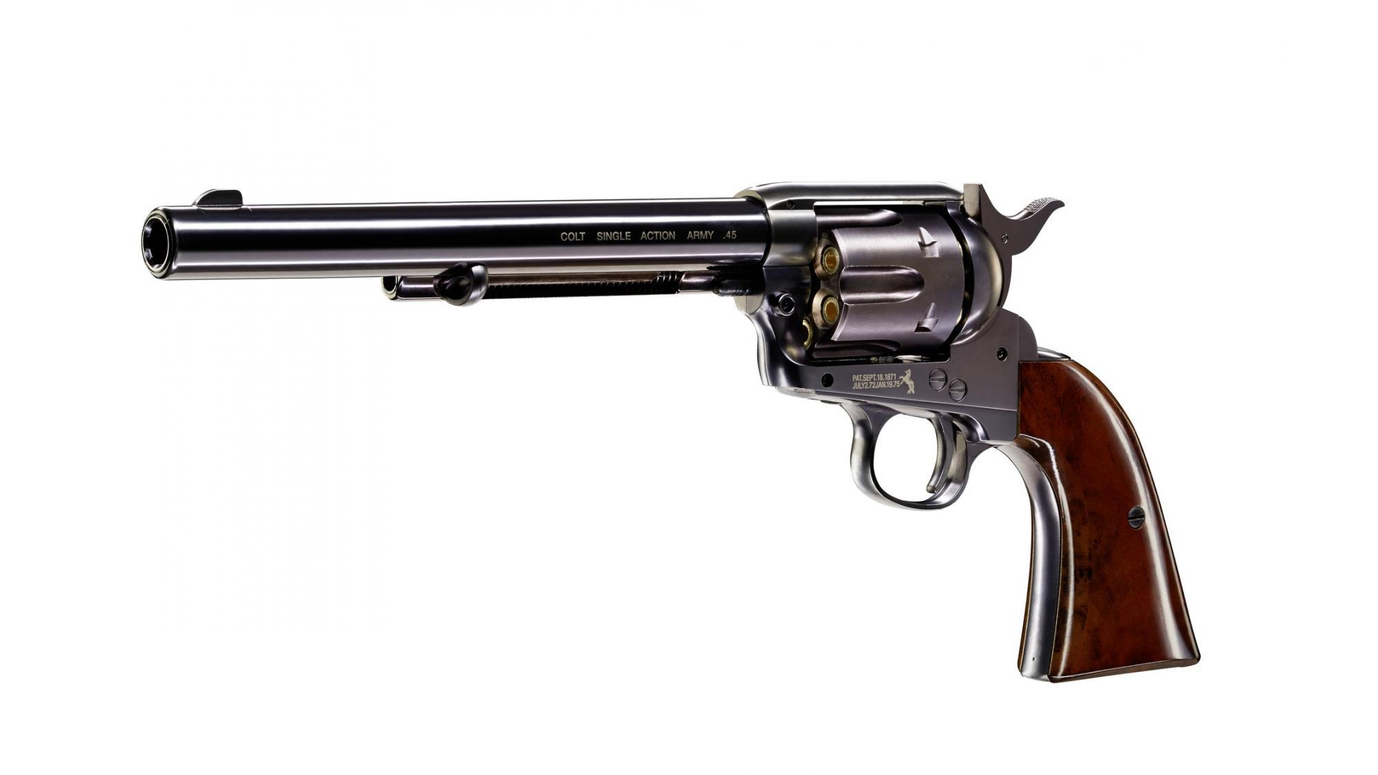 "Colt Single Action Army 45 blued CO2-Revolver 4,5mm Diabolo (SAA), 7,5"" Lauf"