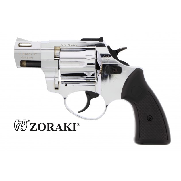 "Zoraki R2 Schreckschussrevolver 2"" chrom, cal. 9mm R.K"