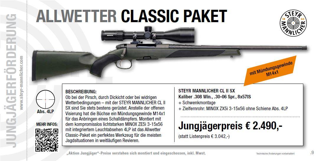 Allwetterpaket Classic Jungjägerförderung Steyr Mannlicher