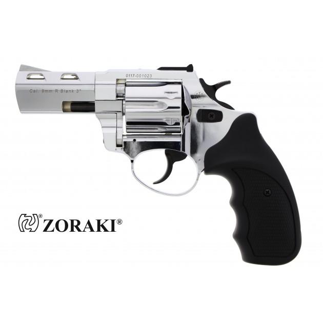 "Zoraki R2 Schreckschussrevolver 3"" chrom, cal. 9mm R.K"