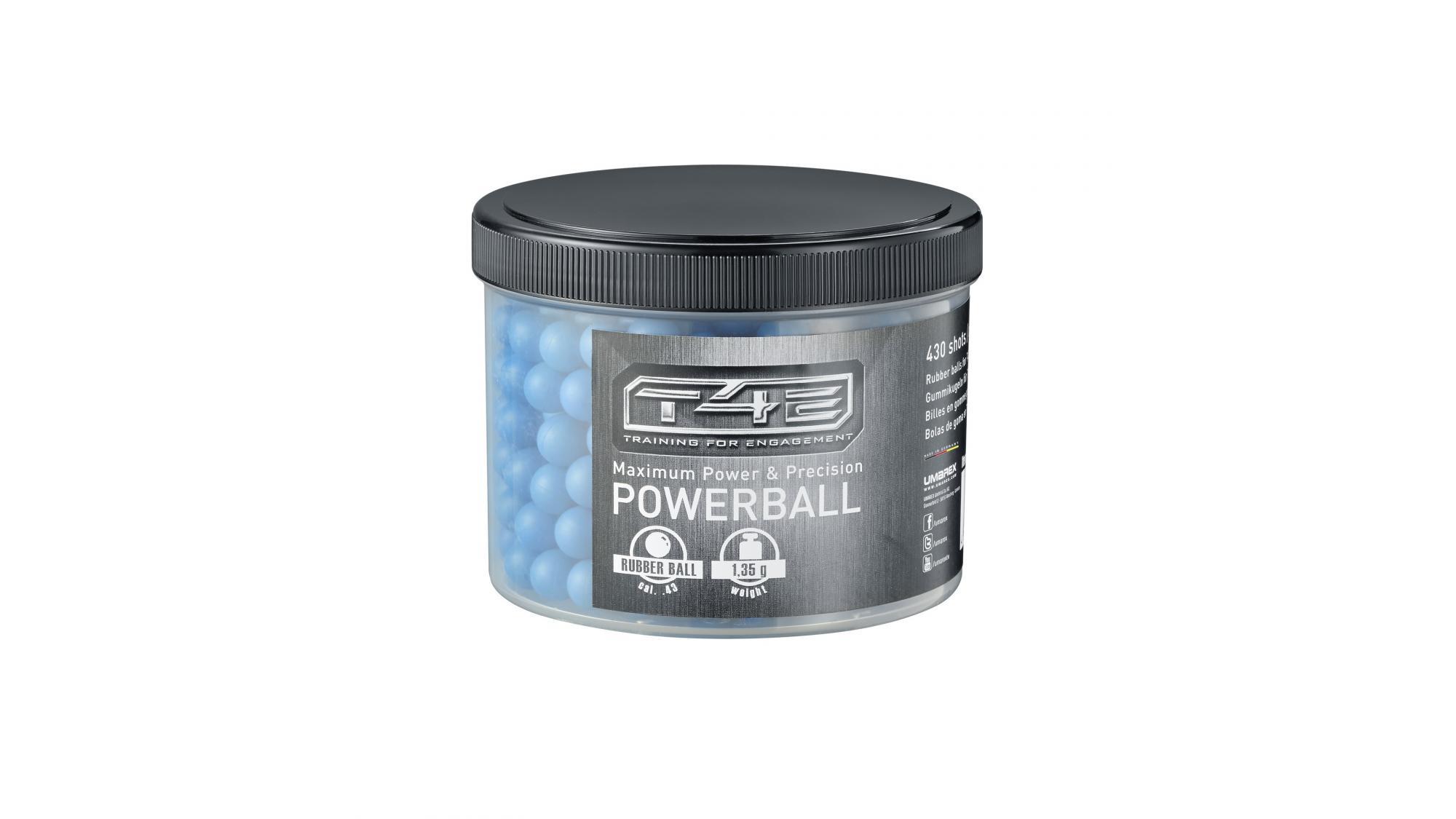 Gummigeschosse Powerball cal. 43, RAM Munition