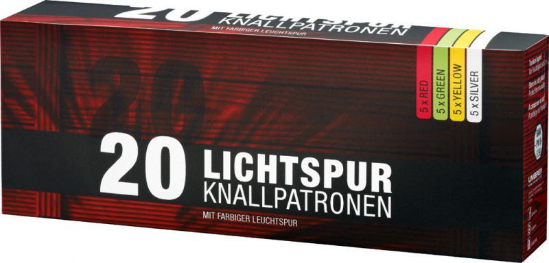 Feuerwerk Umarex Lichtspur Knallpatronen, 20teilig cal. 15mm Pyrotechnik