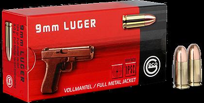 Geco Pistolenpatrone 9mm Luger, FMJ, 124grs, 9x19