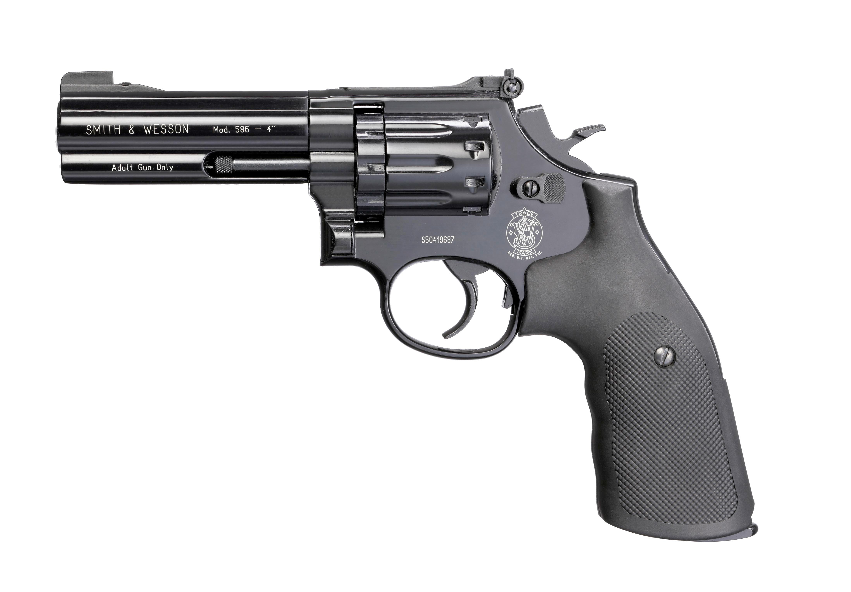"CO2 Revolver SMITH & WESSON MOD. 586, schwarz, 4"""