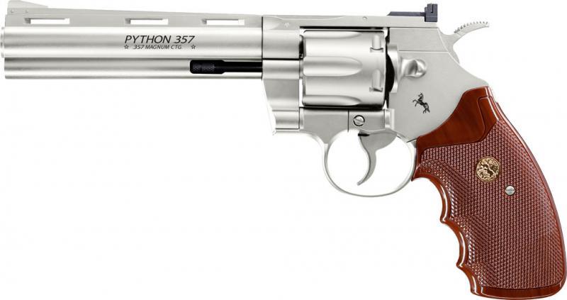 """CO2 Revolver SMITH & WESSON MOD. 686, nickel, 6"""""""