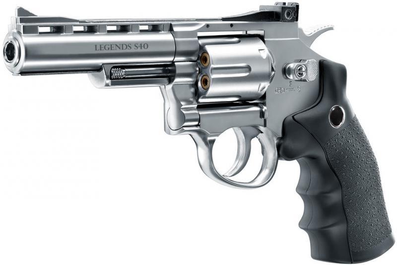 "Legends S40 CO2-Revolver 4"", cal. 4,5mm Diabolo"
